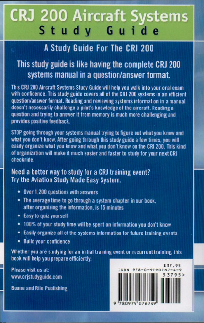 LEARN ABOUT BOMBARDIER CRJ-200 COCKPIT CONTROLS AND INDICATORS WITH THE CRJ-200 QUICK STUDY GUIDE